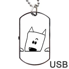 Peeping Westie Dog Tag USB Flash (One Side)