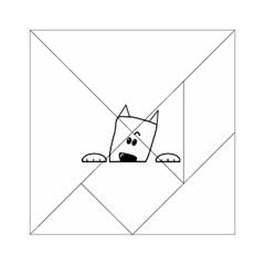 Peeping Westie Acrylic Tangram Puzzle (6  x 6 )