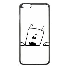 Peeping Westie Apple iPhone 6 Plus Black Enamel Case