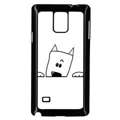 Peeping Westie Samsung Galaxy Note 4 Case (Black)