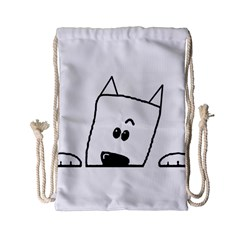 Peeping Westie Drawstring Bag (Small)
