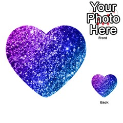 Glitter Ocean Bokeh Multi-purpose Cards (Heart)