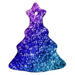 Glitter Ocean Bokeh Ornament (christmas Tree)