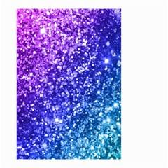 Glitter Ocean Bokeh Small Garden Flag (Two Sides)