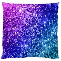 Glitter Ocean Bokeh Standard Flano Cushion Cases (two Sides)