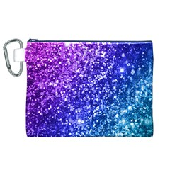 Glitter Ocean Bokeh Canvas Cosmetic Bag (XL)