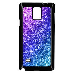 Glitter Ocean Bokeh Samsung Galaxy Note 4 Case (black)