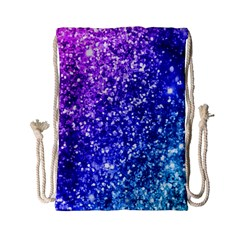Glitter Ocean Bokeh Drawstring Bag (Small)