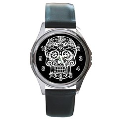 Skull Round Metal Watches