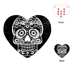 Skull Playing Cards (heart)
