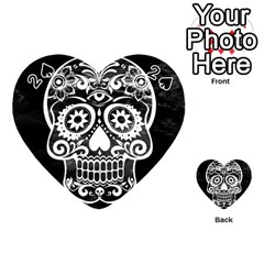 Skull Playing Cards 54 (heart)