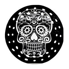 Skull Round Filigree Ornament (2Side)