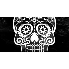 Skull YOU ARE INVITED 3D Greeting Card (8x4)
