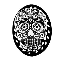 Skull Oval Filigree Ornament (2-Side)