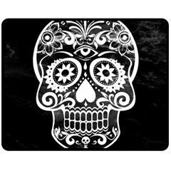 Skull Double Sided Fleece Blanket (medium)