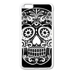 Skull Apple iPhone 6 Plus Enamel White Case