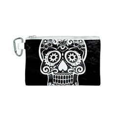 Skull Canvas Cosmetic Bag (S)