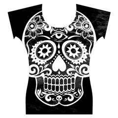 Skull Women s Cap Sleeve Top