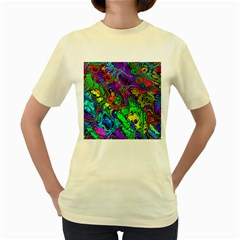 Powerfractal 4 Women s Yellow T Shirt
