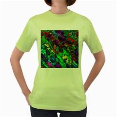 Powerfractal 4 Women s Green T Shirt