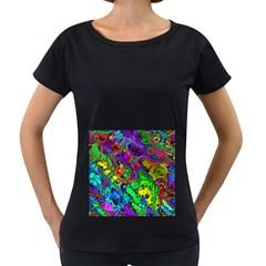 Powerfractal 4 Women s Loose-Fit T-Shirt (Black)