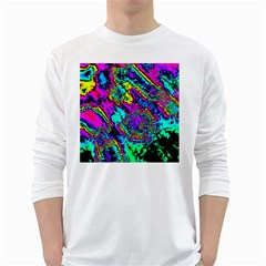 Powerfractal 2 White Long Sleeve T-Shirts