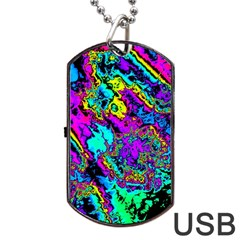Powerfractal 2 Dog Tag USB Flash (Two Sides)