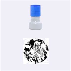 Powerfractal 01 Rubber Round Stamps (Small)