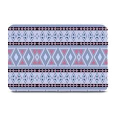 Fancy Tribal Border Pattern Blue Plate Mats