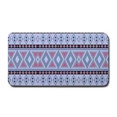 Fancy Tribal Border Pattern Blue Medium Bar Mats