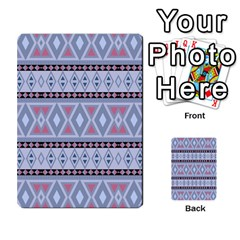 Fancy Tribal Border Pattern Blue Multi-purpose Cards (Rectangle)