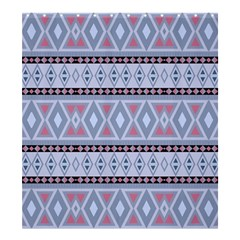 Fancy Tribal Border Pattern Blue Shower Curtain 66  x 72  (Large)