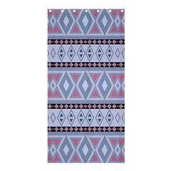 Fancy Tribal Border Pattern Blue Shower Curtain 36  x 72  (Stall)
