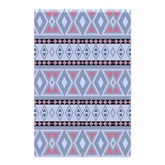 Fancy Tribal Border Pattern Blue Shower Curtain 48  X 72  (small)