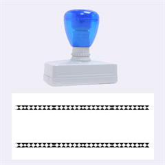Fancy Tribal Border Pattern Blue Rubber Stamps (Large)