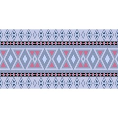 Fancy Tribal Border Pattern Blue You Are Invited 3d Greeting Card (8x4)