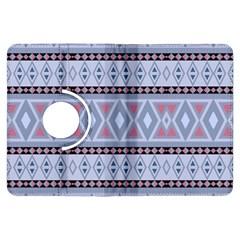 Fancy Tribal Border Pattern Blue Kindle Fire Hdx Flip 360 Case
