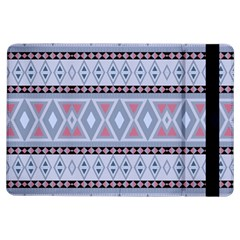 Fancy Tribal Border Pattern Blue Ipad Air Flip