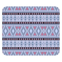 Fancy Tribal Border Pattern Blue Double Sided Flano Blanket (Small)