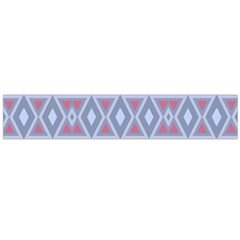 Fancy Tribal Border Pattern Blue Flano Scarf (Large)