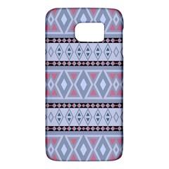 Fancy Tribal Border Pattern Blue Galaxy S6