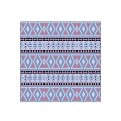 Fancy Tribal Border Pattern Blue Satin Bandana Scarf