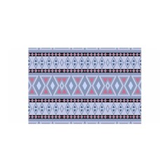 Fancy Tribal Border Pattern Blue Satin Wrap