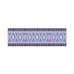 Fancy Tribal Border Pattern Blue Satin Scarf (oblong)