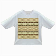 Fancy Tribal Border Pattern Beige Infant/Toddler T-Shirts