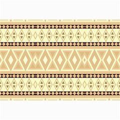 Fancy Tribal Border Pattern Beige Collage 12  x 18