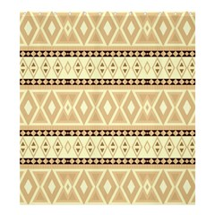 Fancy Tribal Border Pattern Beige Shower Curtain 66  x 72  (Large)