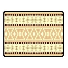 Fancy Tribal Border Pattern Beige Fleece Blanket (small)