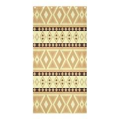 Fancy Tribal Border Pattern Beige Shower Curtain 36  x 72  (Stall)