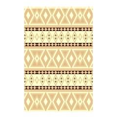 Fancy Tribal Border Pattern Beige Shower Curtain 48  x 72  (Small)